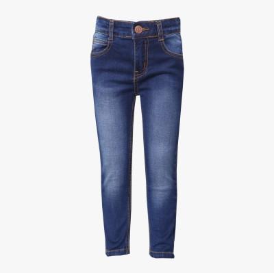 Tales & Stories Slim Fit Boy's Denim Dark Blue Trousers