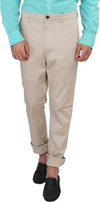 Calvin Klein Slim Fit Men's Beige Trousers