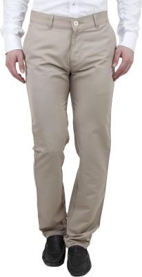 Feels Good Regular Fit Men's Beige Trousers