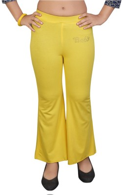 Mint Regular Fit Girl's Yellow Trousers