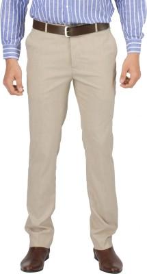 Zido Slim Fit Men's Beige Trousers