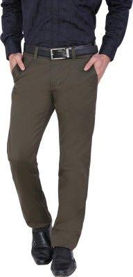 Louppee Regular Fit Men,s Dark Green Trousers