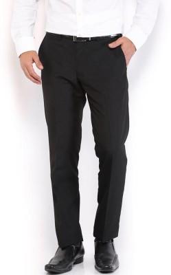 Frankline Regular Fit Men's Black Trousers