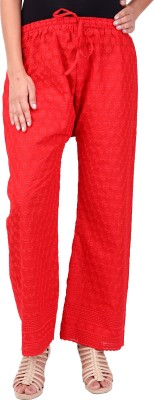 Saiarisha Regular Fit Women's Red Trousers