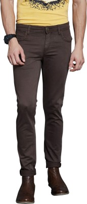 Route 66 Skinny Fit Men's Brown Trousers