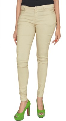 Fashion Club Slim Fit Women,s Cream Trousers