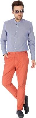Slub By INMARK Regular Fit Men's Orange Trousers