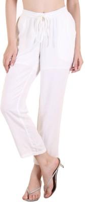 Zoae Regular Fit Women's White Trousers