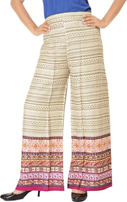 Khushali Regular Fit Women's Beige, Pink, Multicolor Trousers