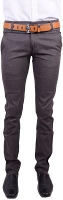Logas Slim Fit Men's Brown Trousers