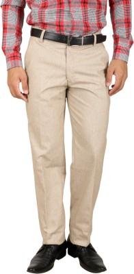 Larwa Fashion Regular Fit Men's Cream Trousers