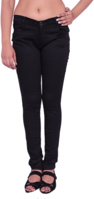 Nine Ex Eleven Slim Fit Women's Black Trousers