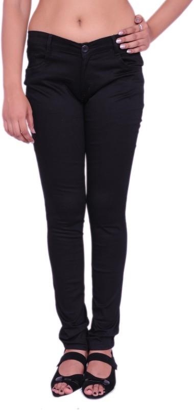 Nine Ex Eleven Slim Fit Women's Black Trousers