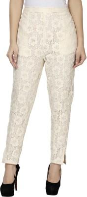Kaaviyaz Regular Fit Women's White Trousers