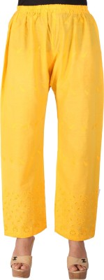 Ayesha Creations Regular Fit Women's Yellow Trousers