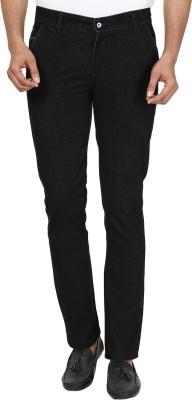 Own Voice Regular Fit Men's Black, White Trousers