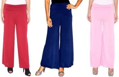 Zadine Regular Fit Women,s Red, Dark Blue, Pink Trousers