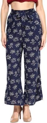 Sakhi Sang Regular Fit Women's Dark Blue, Cream Trousers