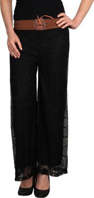 Big Up Regular Fit Women's Black Trousers