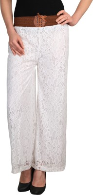 Big Up Regular Fit Women's White Trousers
