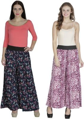 Shopingfever Regular Fit Women's Dark Blue, Purple Trousers