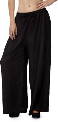 Akshiti Regular Fit Women's Black Trousers