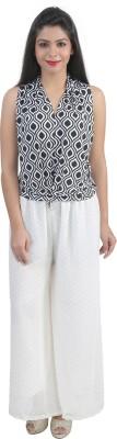 Advika Regular Fit Women,s White Trousers