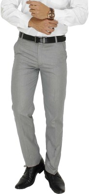 Cottinfab Regular Fit Men's Grey Trousers
