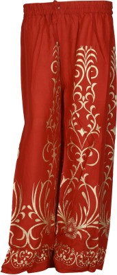 SAANKHYA Regular Fit Women's Red Trousers
