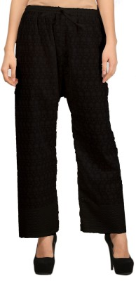 VASTRAA FUSION Regular Fit Women's Black Trousers