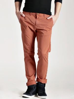Quiksilver Regular Fit Men's Orange Trousers