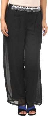 F by Faten Regular Fit Women's Black Trousers