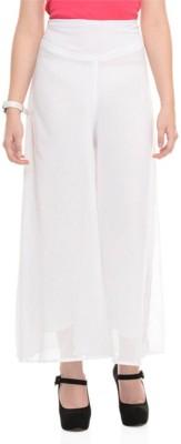 La Verite Regular Fit Women's White Trousers