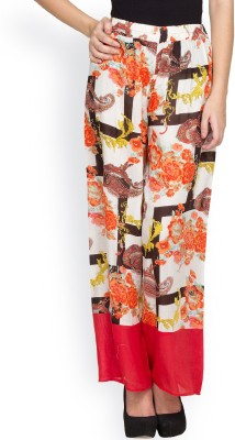 Citypret Regular Fit Women's Red Trousers
