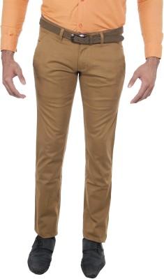 Le-Meiux Slim Fit Men's Gold Trousers