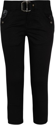 Jazzup Regular Fit Boy's Black Trousers