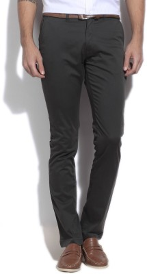 Arrow Sports Slim Fit Men's Green Trousers