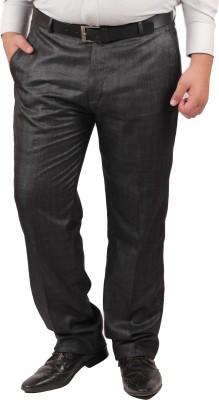 RIPARV Regular Fit Men's Black Trousers