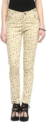 Sakhi Sang Slim Fit Women's Cream Trousers