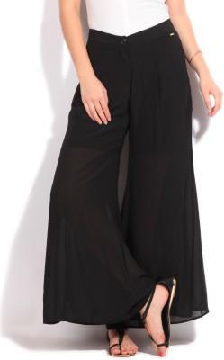 Elle Regular Fit Women's Black Trousers