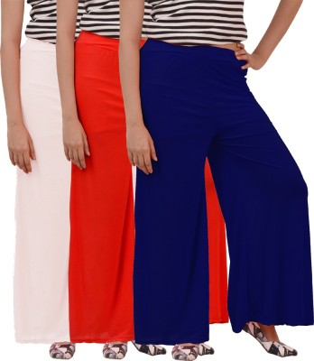 Ace Regular Fit Women's Red, Blue, White Trousers
