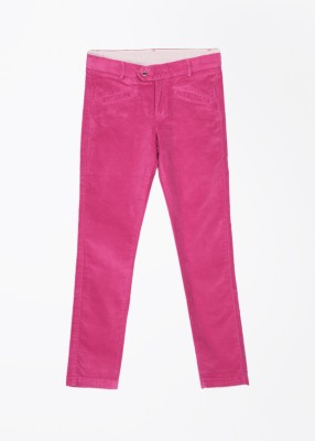 United Colors of Benetton Slim Fit Girl's Pink Trousers