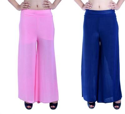 Ajaero Regular Fit Women's Pink, Dark Blue Trousers