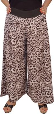 Saree Sparkle Regular Fit Women's Beige Trousers