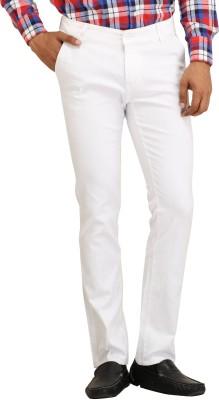 Stylz Regular Fit Men's Linen White Trousers