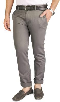 Blimey Slim Fit Men's Grey Trousers