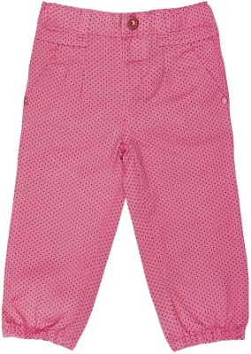 Wow Mom Slim Fit Baby Girl,s Pink Trousers