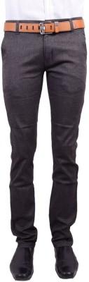 Logas Slim Fit Men's Black Trousers
