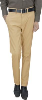 Integration Slim Fit Men's Beige Trousers