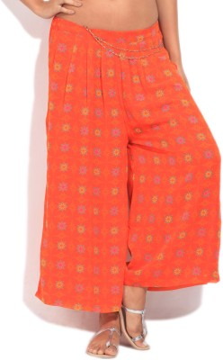 Imara Regular Fit Women's Yellow, Orange Trousers at flipkart